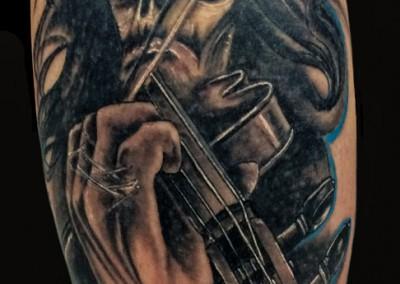 geige-tattoo