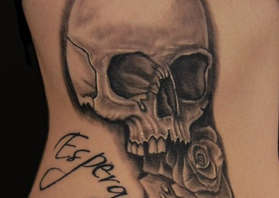 rose-skull-tattoo