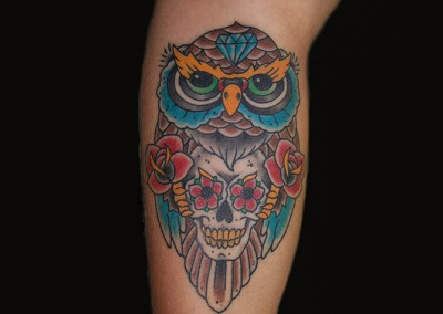 skull-owl-tattoo